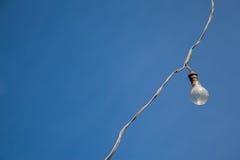 Dusty lamp and blue sky Stock Photos