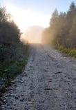 Dusty mountain road Royalty Free Stock Photo