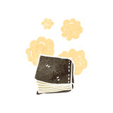 Dusty old book cartoon Royalty Free Stock Photography