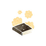 Dusty old book cartoon Royalty Free Stock Photos