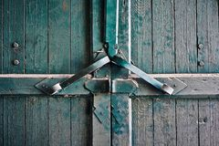 Dusty old gate. Close up Royalty Free Stock Photos
