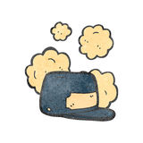 Dusty old hat cartoon Royalty Free Stock Images