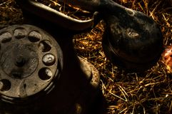 Dusty Old phone Stock Images