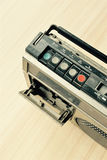 Dusty old radio with one cassette player Stock Image