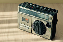 Dusty old radio with one cassette player Stock Photography