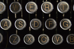 Dusty Old Royal Typewriter Keys imagenes de archivo