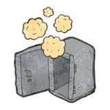 Dusty old safe retro cartoon Stock Image