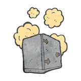 Dusty old safe retro cartoon Royalty Free Stock Photos
