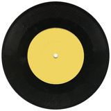 Dusty old Vinyl 33rpm record Royalty Free Stock Images
