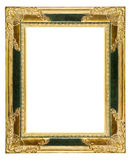 Dusty ornate old gold picture frame Royalty Free Stock Photography