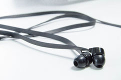 Dusty pair of earphones  3. A dusty pair of earphones Stock Photography