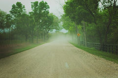 Dusty Path. Dirt road, curve ahead, dusty Royalty Free Stock Photos