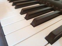 Dusty piano keyboard. Concept of resuming piano play Royalty Free Stock Image