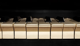 The dusty piano keyboard Royalty Free Stock Images
