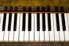 Dusty Piano Keys Stock Image