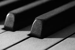 Dusty Piano keys Stock Photo