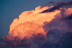 Dusty Pink Storm Clouds Image stock