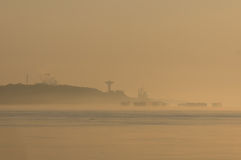 Dusty Port des Ladens Stockbild