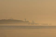 Dusty Port di caricamento Immagine Stock