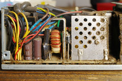 Dusty power supply inside Royalty Free Stock Image
