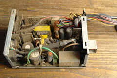 Dusty power supply inside Stock Photography