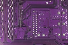 Dusty printed circuit board. High tech closeup. Royalty Free Stock Photography