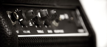 Dusty retro Guitar amp Stock Images