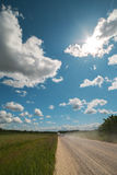 Dusty road. Royalty Free Stock Photo