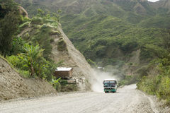 Dusty Road in Andes Stock Photos