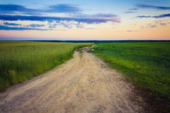 Dusty Road Royalty Free Stock Photography