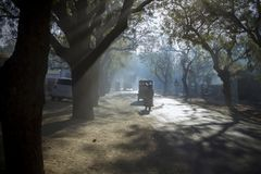 Dusty Road. Of Rural Scene at sumerpur rajasthan india Royalty Free Stock Photos