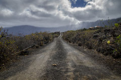 Dusty road in el golfo valley Stock Photography