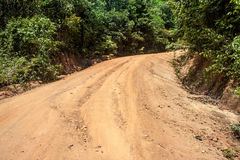 Dusty road at Koh Phangan island Royalty Free Stock Image