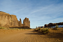 Dusty Road Monument Valley. Red dusty road through Monument Valley Royalty Free Stock Photography