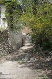 Dusty roads in empty  old village Stock Photo