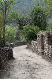 Dusty roads in empty  old village. In turkey Royalty Free Stock Photos