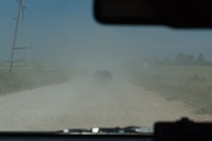 Dusty rural road Stock Photo