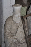 Dusty statue orthodox priest Royalty Free Stock Photography