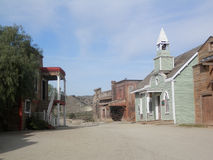 Dusty street in Fort Bravo Stock Photos