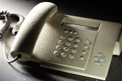 Dusty telephone Royalty Free Stock Image