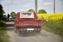 Dusty track in countryside Royalty Free Stock Images