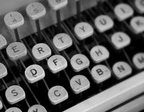 Dusty Typewriter. Close Up of an Old Dusty Typewriter royalty free stock photos