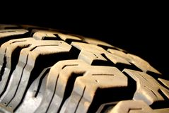 Dusty Tyre Tread Royalty Free Stock Images