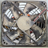 Dusty Ventilator Fan, Closeup Royalty Free Stock Photos