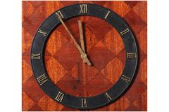 Dusty vintage clock Stock Photos