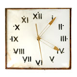 Dusty Vintage Wall Clock Stock Photos
