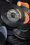Dusty vinyl records Stock Photo
