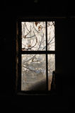 Dusty window frame Royalty Free Stock Images