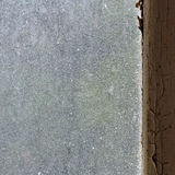Dusty window glass Royalty Free Stock Photography