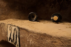 Dusty wine in basement Stock Photos
